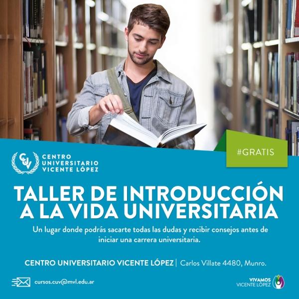TALLER DE INTRODUCCIÓN A LA VIDA UNIVERSITARIA