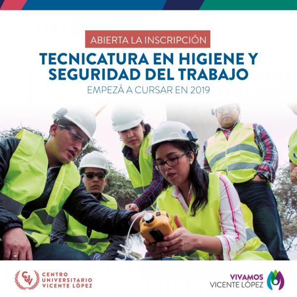 INSCRIPCIÓN 2019 - TECNICATURA HIGIENE Y SEGURIDAD DEL TRABAJO