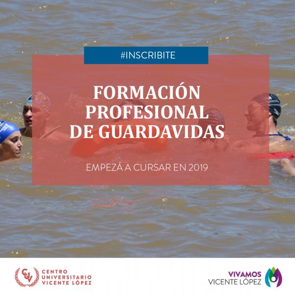 INSCRIPCIÓN 2019 - FORMACIÓN PROFESIONAL DE GUARDAVIDAS